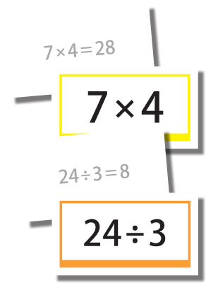 graphic regarding Division Flashcards Printable referred to as Horizontal Multiplication and Department Flashcard Fixed