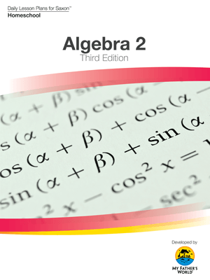 algebra 2 daily lesson plans for saxon 3rd ed 26204
