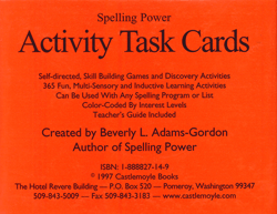 Spelling Power Activity Task