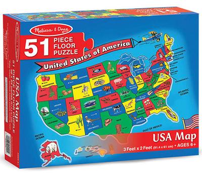 U.S.A. Map Floor Puzzle - 74338