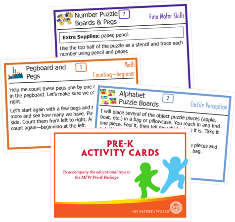 Preschool Activity Cards