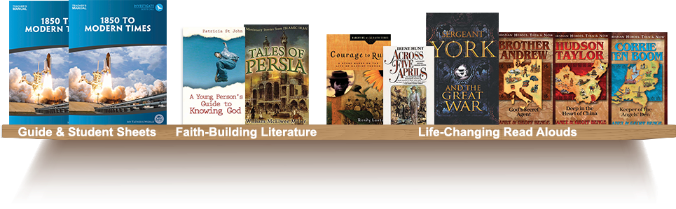 Bookshelf, Guide and Student Sheets, Faith-Building Literature, Life=Changing Read Alouds