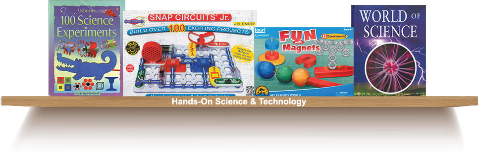 Bookshelf, Hands-On-Science and Technology
