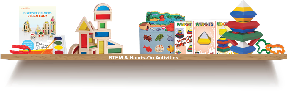 Bookshelf, STEM and Hands-On Activities