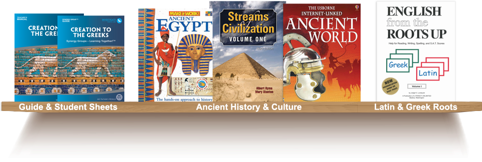 Bookshelf, Guide and Student Sheets, Ancient History and Culture, Latin and Greek Roots