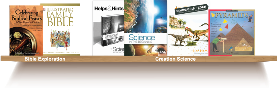 Bookshelf, Bible Expansion, Creation Science