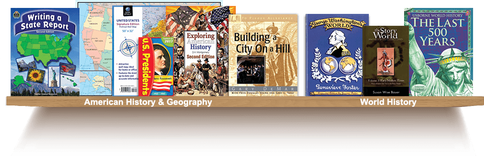 Bookshelf, American History and Geography, World History