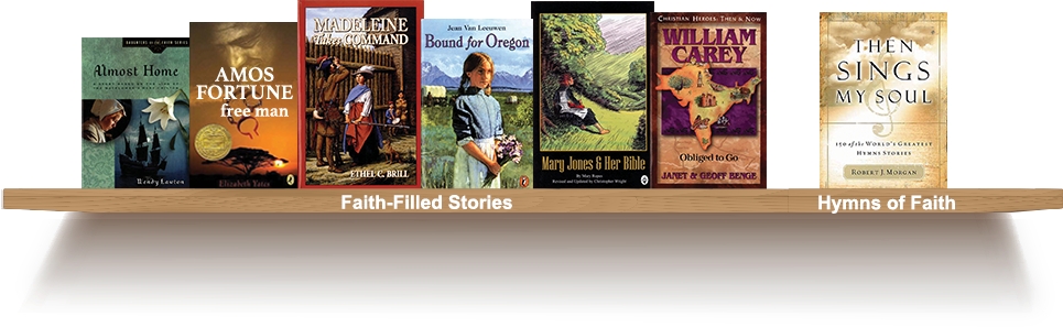 Bookshelf, Faith-Filled Stories, Hymns of Faith