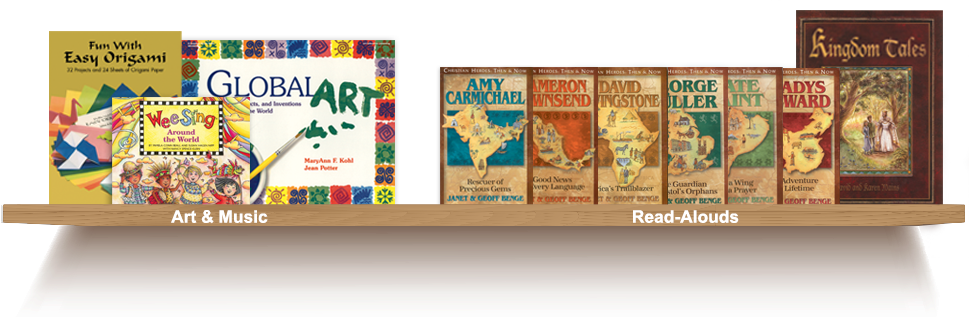 Bookshelf, Art and Music, Read-Alouds