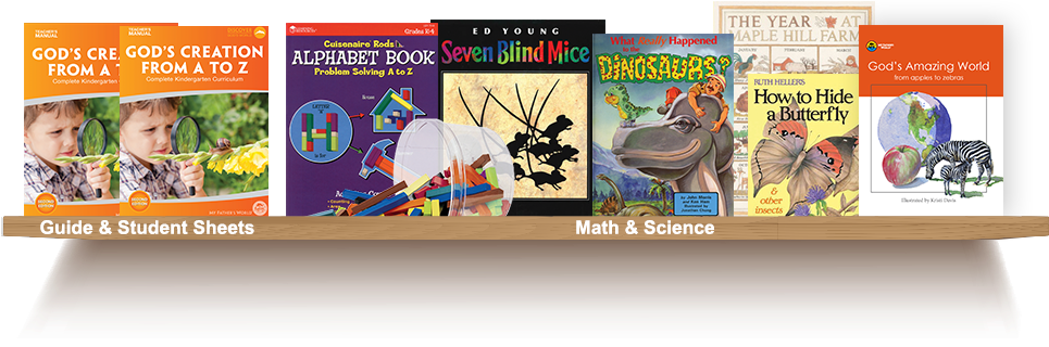 Bookshelf, Guide and Student Sheets, Math and Science