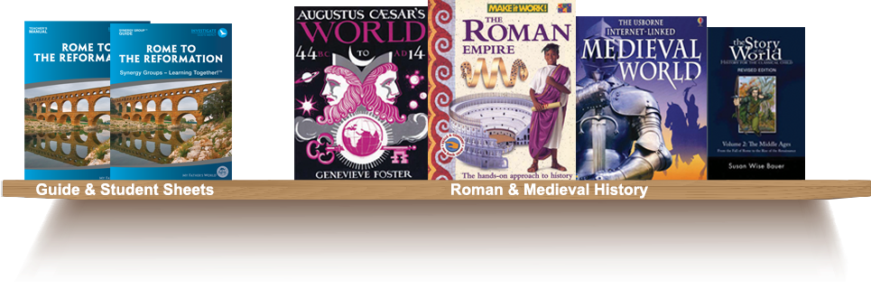Bookshelf, Guide and Student Sheets, Roman and Midieval History