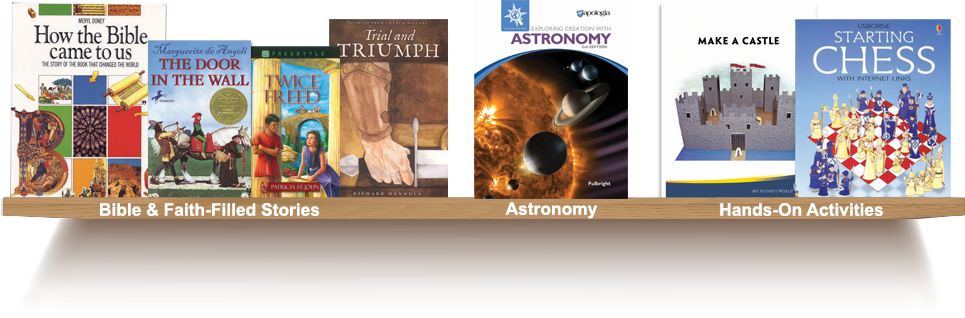 Bookshelf, Bible and Faith-Filled Stories, Astronomy, Hands-On Activities