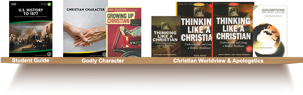 Bookshelf, Student Guide, Godly Character, Christian Worldview and Apologetics