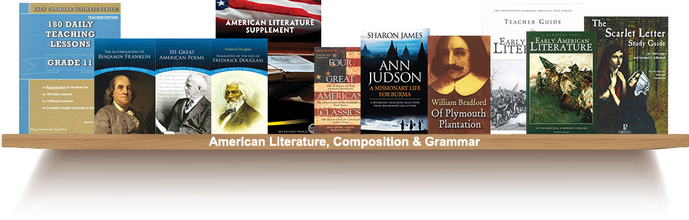 Bookshelf, American Literature, Composition and Grammer