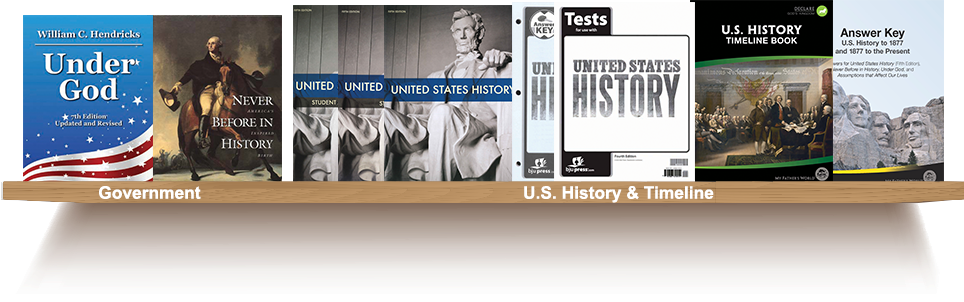Bookshelf, Government, U.S. History and Timeline