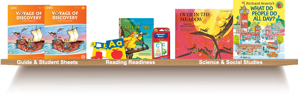 Bookshelf, Guide and Student Sheets, Reading Readiness, Science and Social Studies