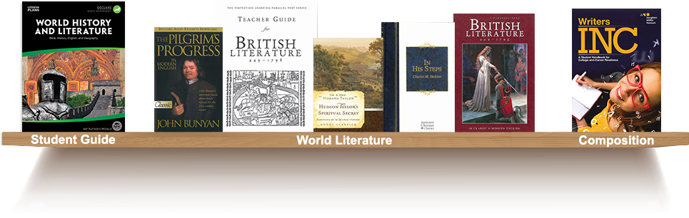 Bookshelf, Student Guide, World Literature, Composition