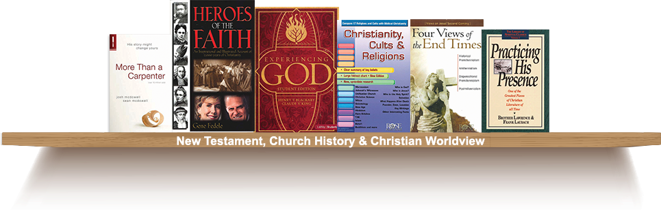 Bookshelf, New Testament, Church History and Christian Worldview