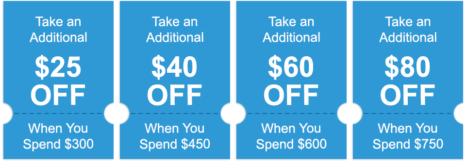 Additional savings with coupons
